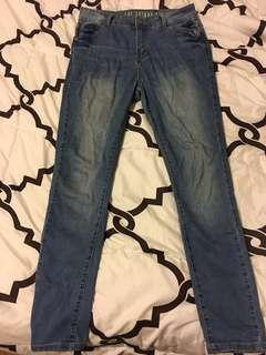 Skinny 7/8 High Rise Jeans