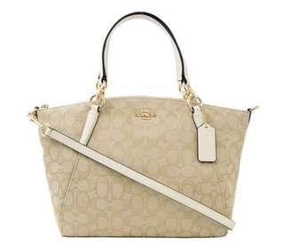 COACH SMALL KELSEY SATCHEL IN SIGNATURE JACQUARD
