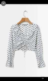Mae polka dot blouse