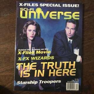 sci-fi universe magazine - x-files special