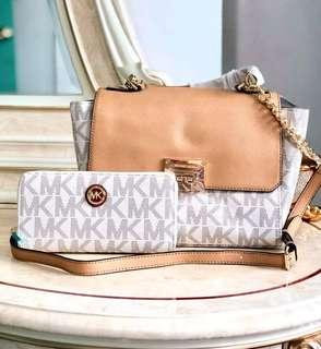 Michael Kors Sling Bag with MK Wallet *Authentic Quality
