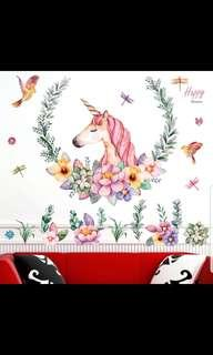 💖Unicorn wall stickers living room bedroom TV sofa wall simple Nordic wallpaper stickers self-adhesive dormitory decoration