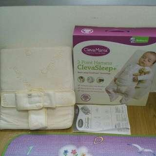 Clevamama pillow 3 point harness relieve colic/reflux prevent flat head