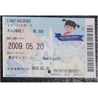 (1K) ONE DAY PASSPORT - TOKYO DISNEY, $25 包郵