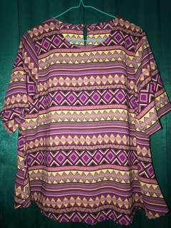 Blouse Purple Tribal