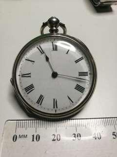 1900s Rare MATHNY GENEVE Vinatge  Sterling Silver Pocket Watch with beaitiful deco