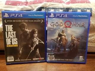 🈹️PS4 god of war & the last of us