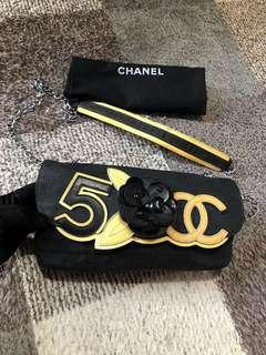 Authentic Chanel Camelia Chain Bag With Card & Dustbag