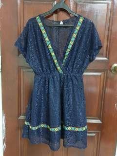 Dark blue lays dress