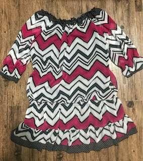 Aztec print tunic blouse