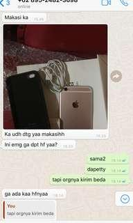 sold iphone 6s