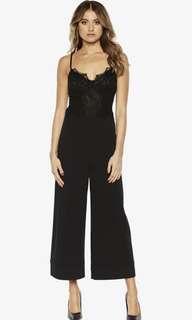 Bardot Black Lace Jumpsuit