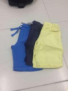 Three Shorts pants for babies