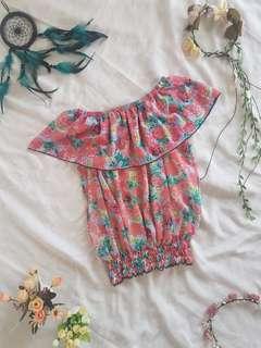Off shoulder floral blouse ❤