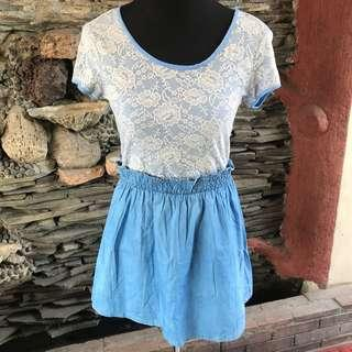 Blue Dress with Lace