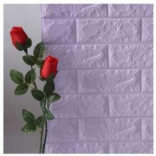 Foam Brick LAVANDER Peel & Stick 3D Cushioni Wall Panels