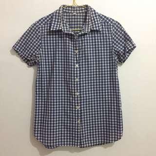 Muji Blue Square Shirt