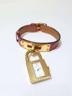 Hermes Kelly Watch White Dial
