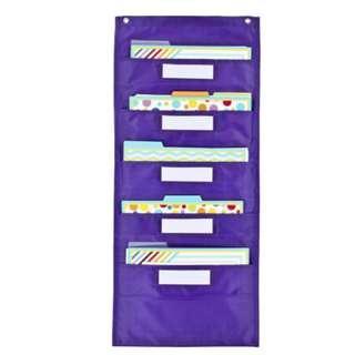 Classroom File Folder Storage Pocket Chart And Folders Set for teachers