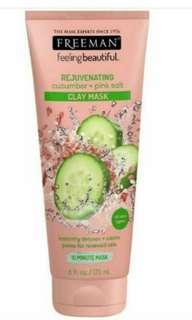 Freeman mask REJUVENATING Cucumbar + Pink Salt Original Usa In Jar