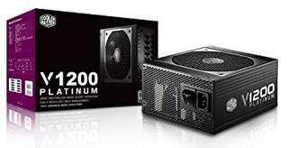 Cooler Master V1200 fully modular 1200w 80 plus platinum psu