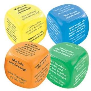 English Reading Comprehension Inference Cubes for classroom enrichment teachers or tutors