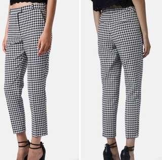 🌟 BRAND NEW Topshop skinny cigarette houndstooth trousers