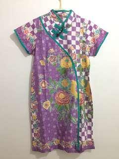 Purple Batik Dress