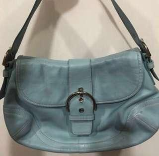 ❗️ PROMO Coach sky blue leather shoulder bag