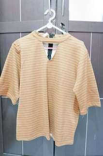 Blouse stripe brown