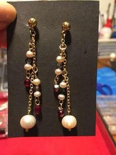 Multi Pearl & Swarovski Earrings