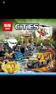 *In Stock* Lepin 02061 Jungle Exploration Site   Compatible with lego 60161