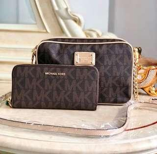 Michael Kors Sling bag with wallet MK *authentic quality