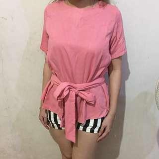 Pink ribbon top