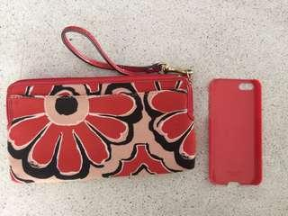 Coach Wristlet and Iphone 5/5S Case