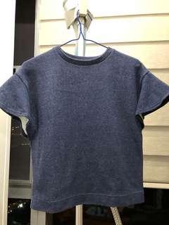 日本 Green label relaxing 牛仔布短袖衫