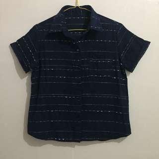 Blue Stripe Top