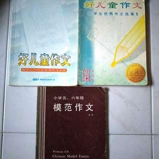 Set of 3 Chinese Essays/Composition Books for Primary School