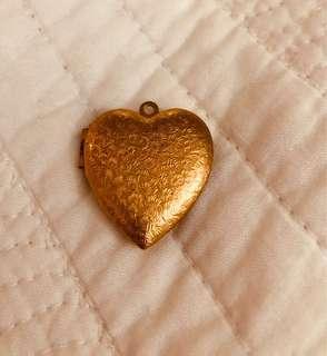 Vintage Brass Heart Locket