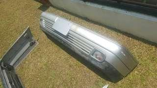 Mercedes w210 1996 genuine front and rear bumper