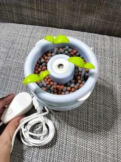 USB Humidifier with Ionizer Pot Plant for office