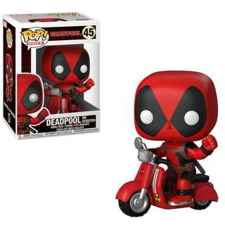 Pop! Rides Deadpool On Scooter Funko Pop BNIB