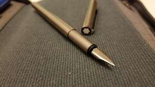 Vintage Montblanc Slimline Steel Fountain Pen