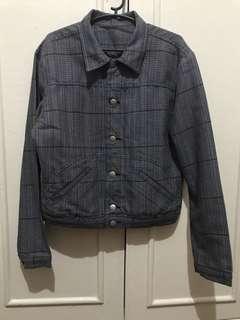 Houndstooth fabric jacket