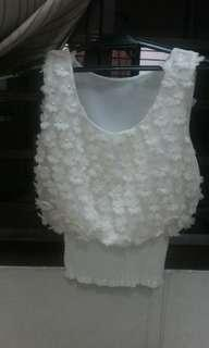Flower Top - Cream