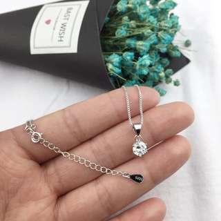 🚚 純銀925 水鑽項鍊 可換物