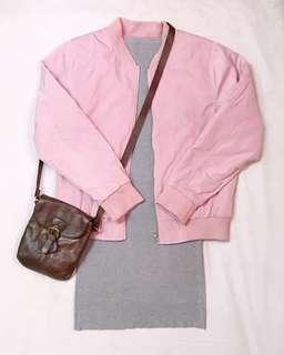 Forever 21 Pink Bomber Jacket