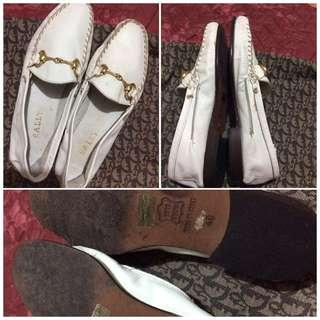 authentic bally white loafer