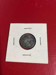 Straits settlement 1887 10cent