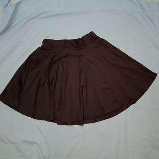 Skater Skirt (Dark Brown)